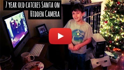 Watch how 7 old boy named Evan caught Santa Claus in action on Christmas eve with the help of hidden camera and his adorable reaction to the evidence that Santa is real via geniushowto.blogspot.com how to catch Santa on Christmas videos