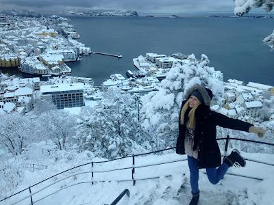Alesund Aksla zimą