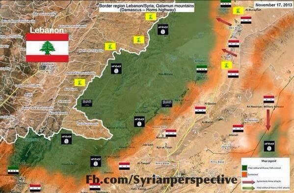 Updated Map of Qalamoun Offensive 1