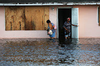 Hurricane Irma's powerful storm surge flooded businesses and homes and damaged infrastructure along the Florida coast. (Credit: Spencer Platt/Getty Images) Click to Enlarge.