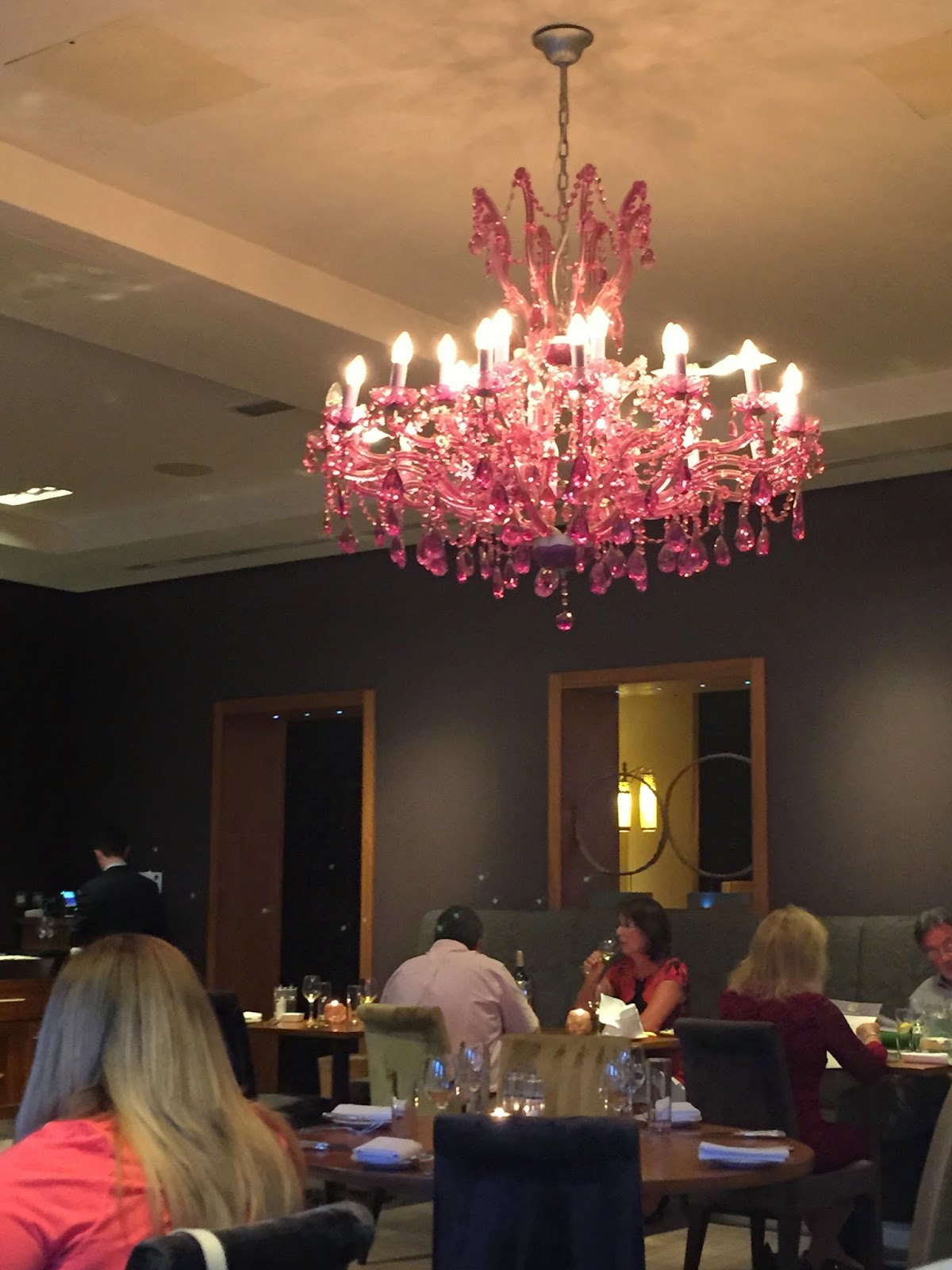 Pink Chandelier, Restaurant, Rudding Park Hotel, Harrogate