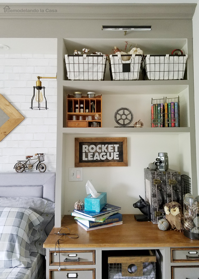 Teen boy room Fall decor