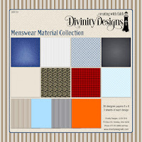 Divinity Designs LLC Menswear Fabric Paper Collection