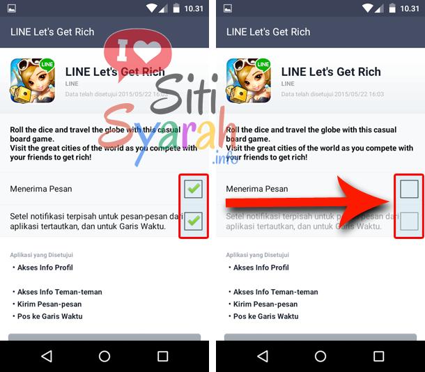 disable notifikasi lgr android