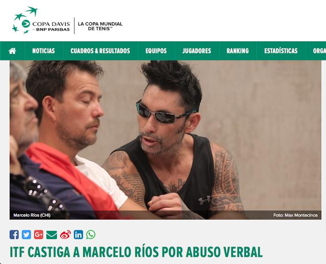 Federación Internacional de Tenis multa a Marcelo Ríos por abuso verbal luego de denuncia del Colegio de Periodistas de Chile
