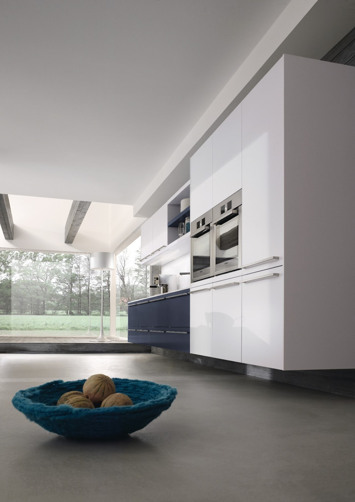 cuisine design blanche suspendue. Black Bedroom Furniture Sets. Home Design Ideas