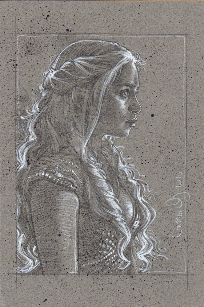 Emilia Clarke as Daenerys Targaryen, Artwork© Jeff Lafferty