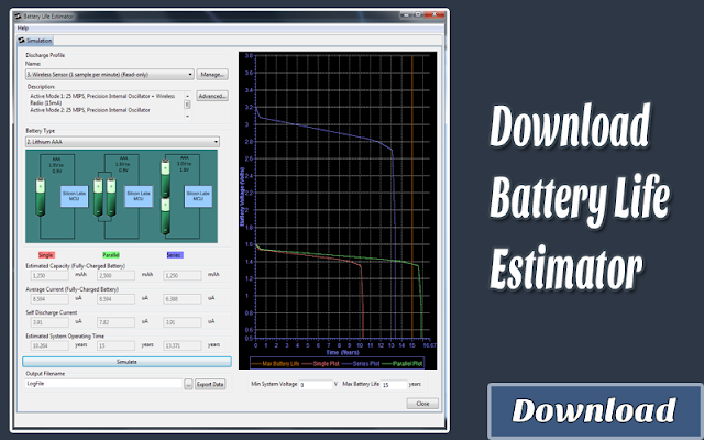 Download Battery Life Estimator | Kalkulator / Info & Softwares Elektronika