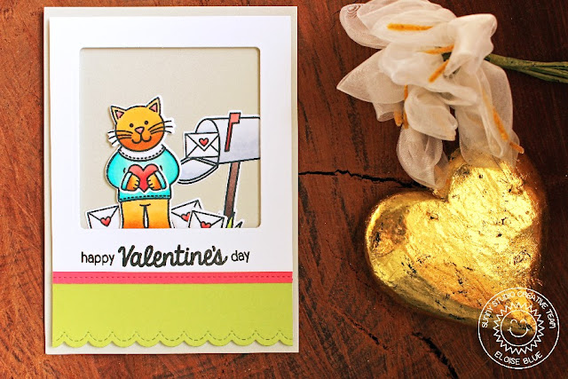 Sunny Studio Stamps: Sending My Love Valentine's Day card by Eloise Blue.