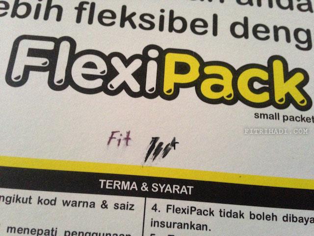Info Saiz berat Harga Flexipack Pos Malaysia