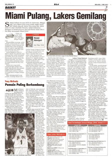BASKET NBA 2001 LA LAKERS GEMILANG