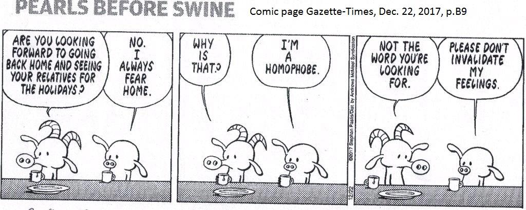homophobe comic GT 12/22/2017 p. B9