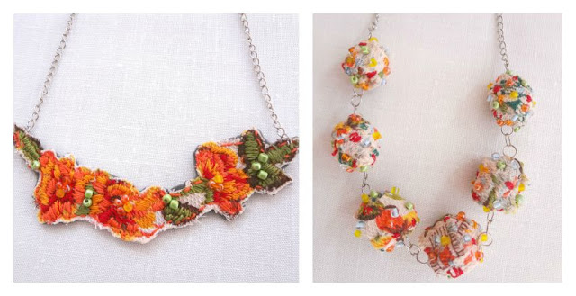 how to make fabric necklaces