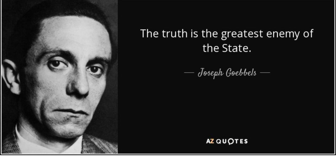 Zitatforschung Die Wahrheit Ist Der Todfeind Der Lüge Und