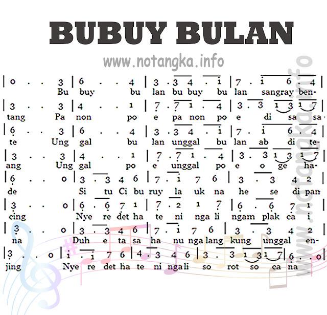 Not Angka Bubuy Bulan - Jawa Barat