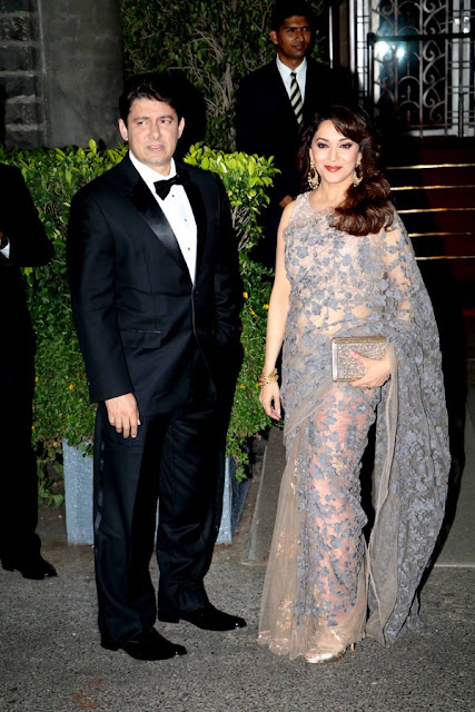 Actress Madhuri Dixit Defined Grace in Sheer Lace Saree