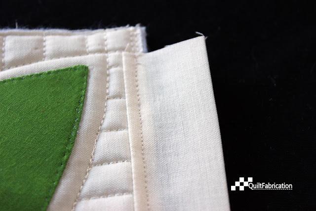 no show binding stitched in seam allowance