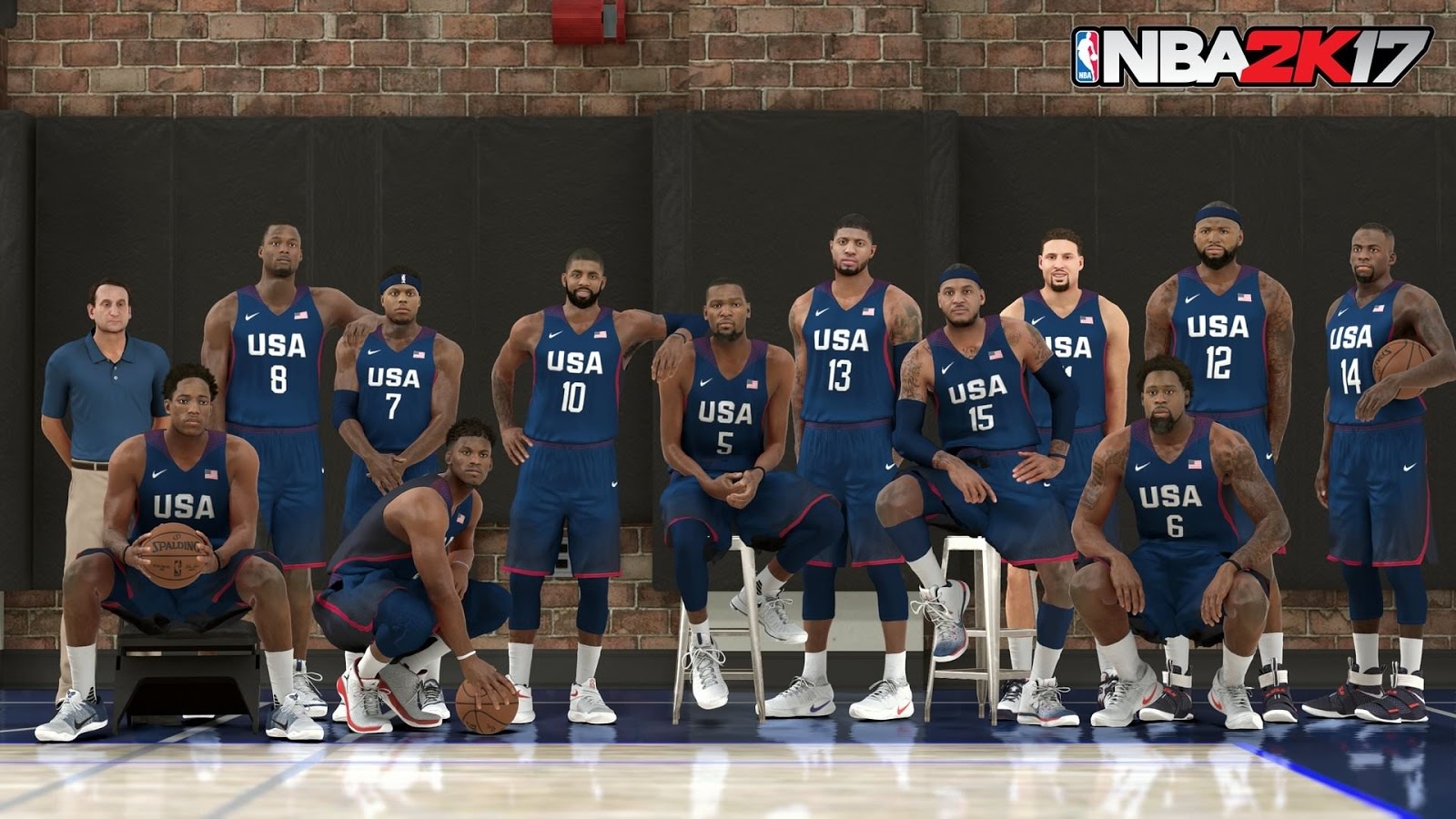 NBA 2k17 2016 USA Basketball Men's National Team Screenshot