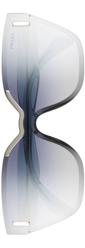 Prada Mirrored Shield Sunglasses Light Blue