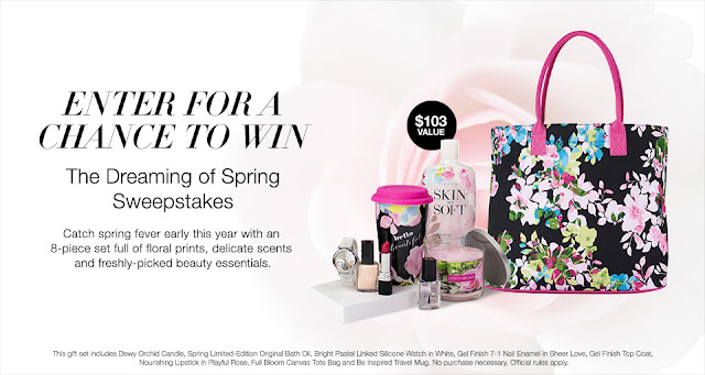 Enter for your chance to win the Avon Dreaming of Spring Sweepstakes. Contest ends 2/28/17
