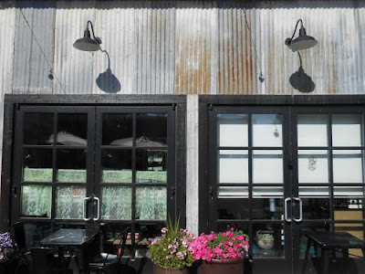 steel siding, cafe, windows