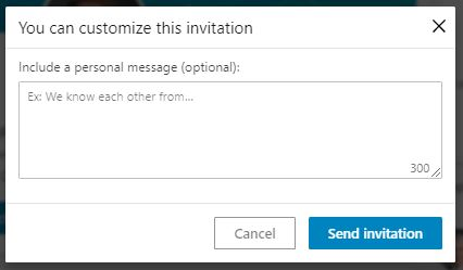 personalize LinkedIn invitation message