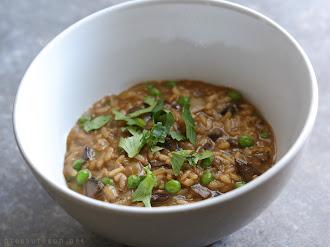 Portobello Mushroom Risotto (pressure cooker)