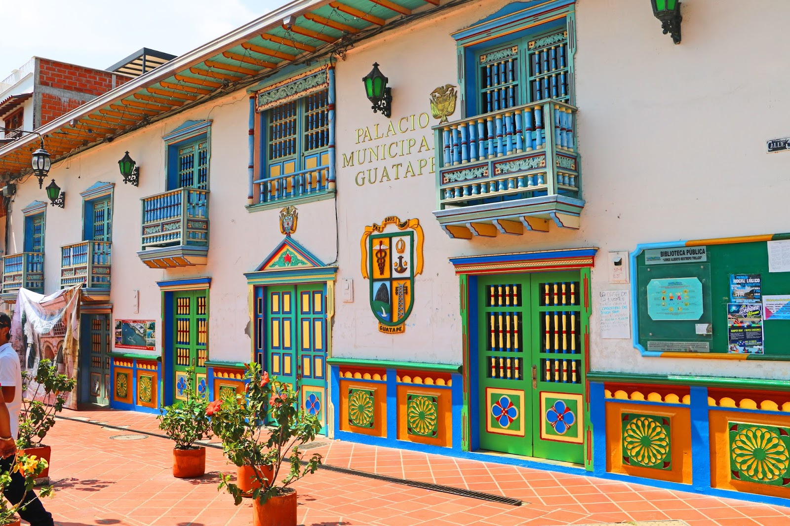 The colorful town of Guatapé is a must see when traveling to Colombia!