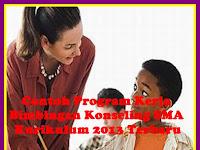 Contoh Program Kerja Bimbingan Kenseling SMA Kurikulum 2013 Terbaru