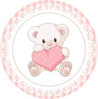 Toppers o Etiquetas para Imprimir Gratis de Osita Bebé para Fiestas de Nena.