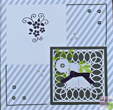 Wedding album, wedding invitations, grey, green, purple