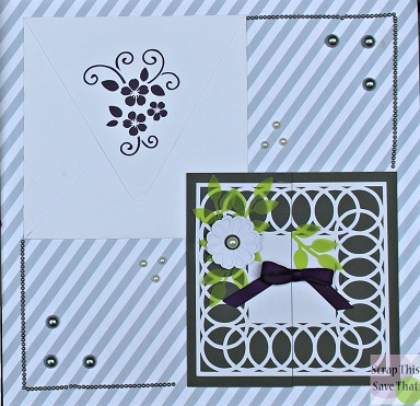 Wedding album, wedding invitations, grey, green, purple