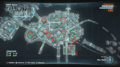 Batman Arkham Knight, Riddler's Puzzles, Miagani Island Map