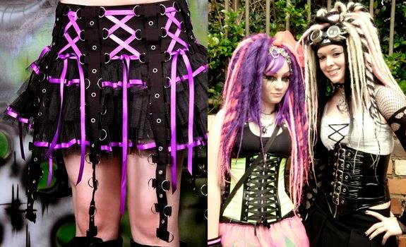 Estilo Cyber Goth Vestimentas