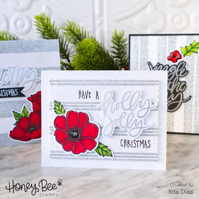 Christmas Anemone Cards | The 30 Day Coloring Challenge with Honey Bee Stamps by ilovedoingallthingscrafty.com