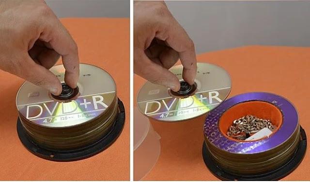 É quase impossível alguém vir na sua casa para roubar dvds ... Então é uma ideia brilhante!