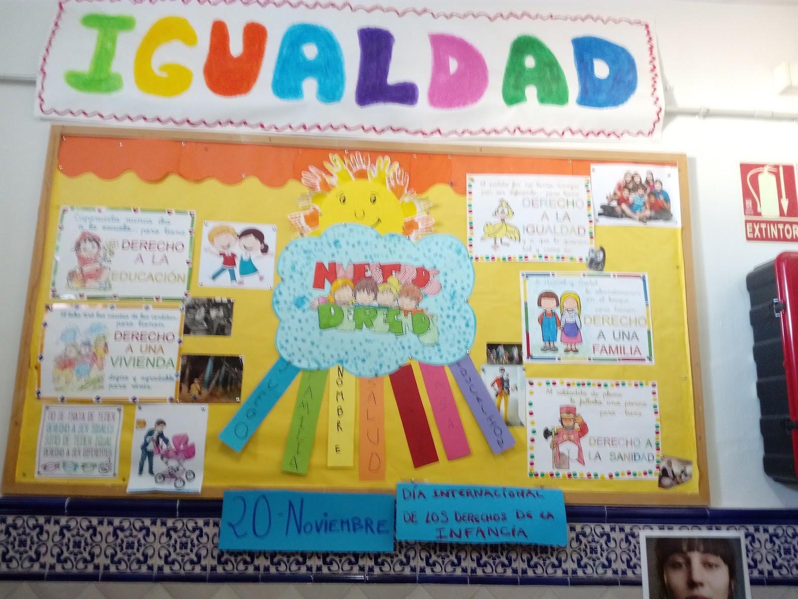 CEIP GMEZ MORENO una Escuela para Crecer Integrndonos en Comunidad Panel de Igualdad Noviembre Los derechos de la infancia