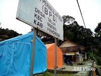 117 Warga Desa Talun Bertahan di Tenda Pengungsian