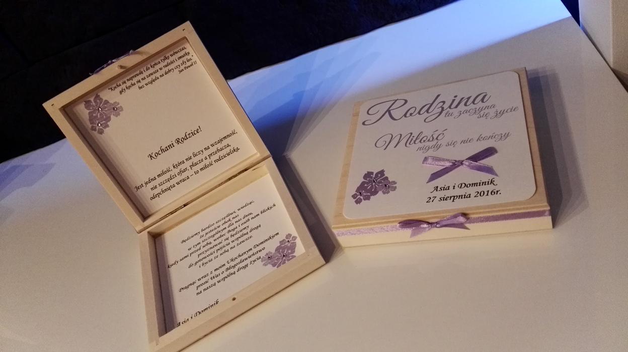 Papierowe Marzenia Zaproszenia ślubne Prośba O Błogosławieństwo