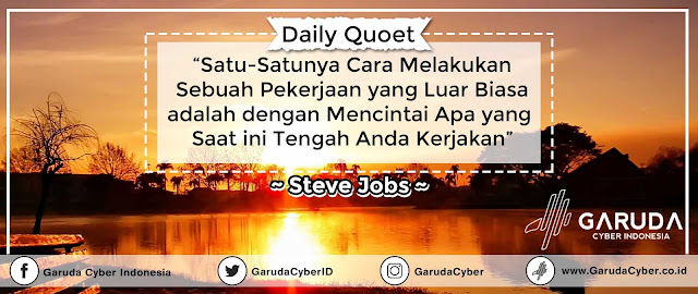 Download Free File PSD JPEG Desain Quote Daily Steve Jobs