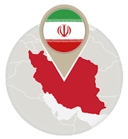 Iranian flag and map