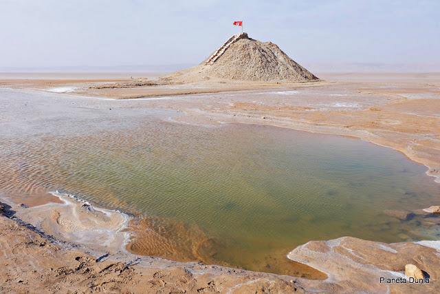 Lago salado tunecino