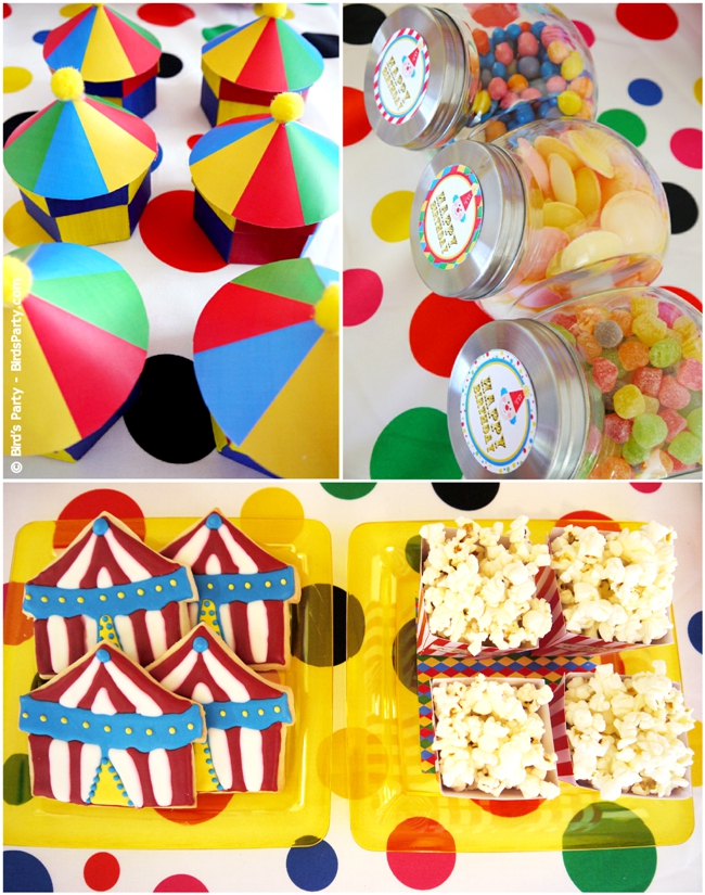 Big Top Circus Carnival Inspired Birthday Party Ideas and Printables candy