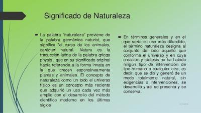 Significado y origen del termino Naturaleza