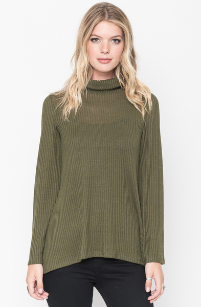 Buy Ribbed Tulip Back Sweater Tunic Online @ caralase.com