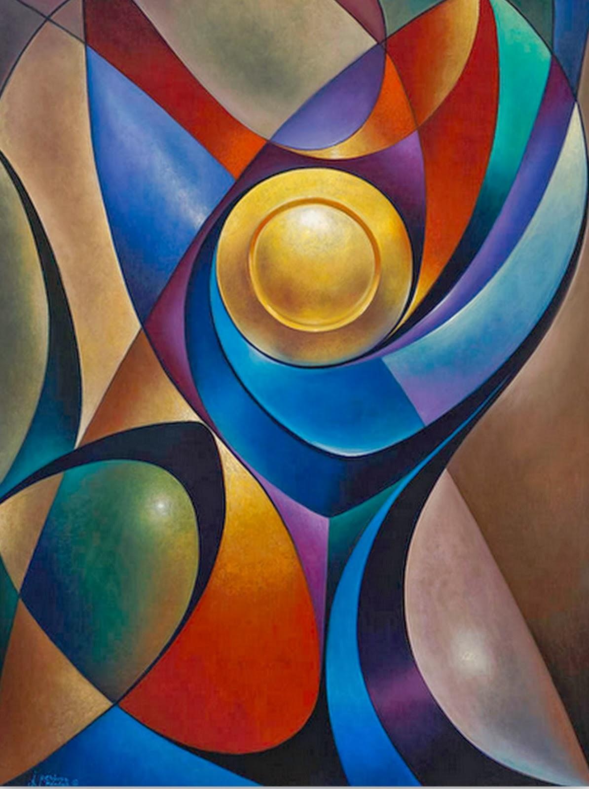 Cuadros modernos abstractos modernos pinturas de flores for Cuadros con formas geometricas