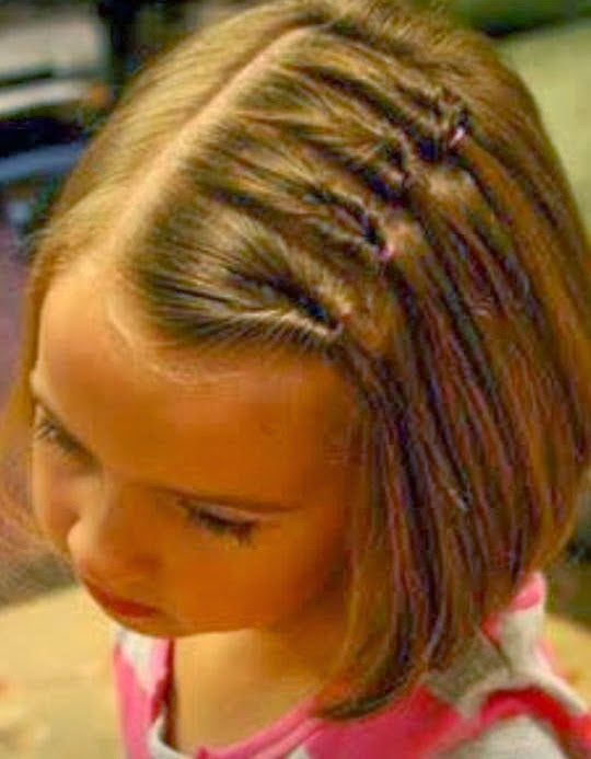 Little girl hair style Cheyennes came out adorable}