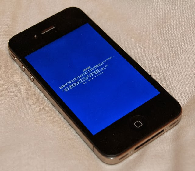 blue screen of death iphone 5s blue screen of iphone 18319