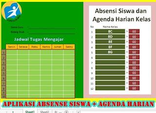 Download Aplikasi Absensi Siswa Full Versi Dilengkapi Agenda Kelas
