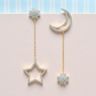Stars Moon Asymmetry Ear Clip